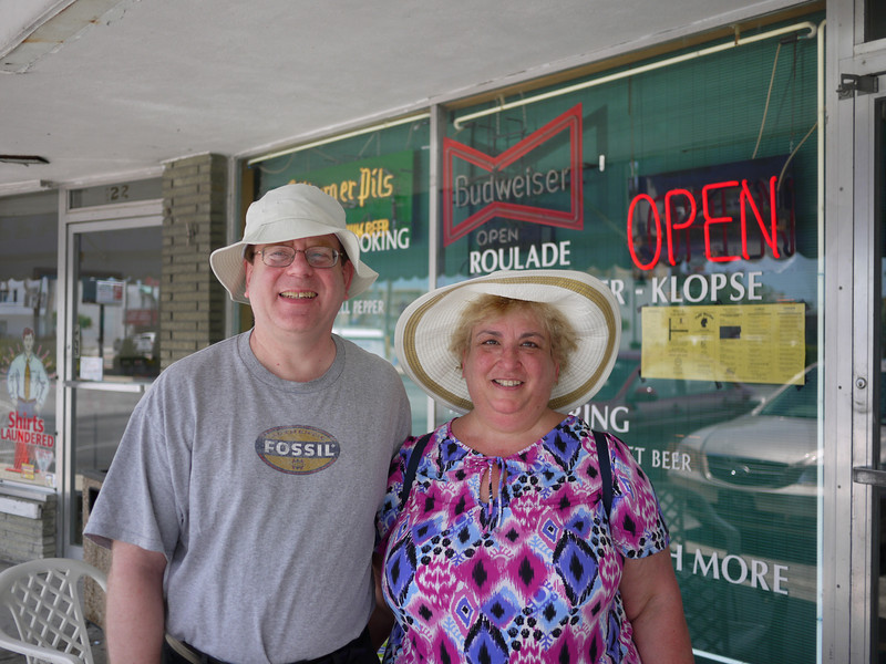 Phil & Shelly in front of Cafe Berlin - Treasure Island, Florida<br /> ©2010 Thomas Stanzale. All rights reserved.