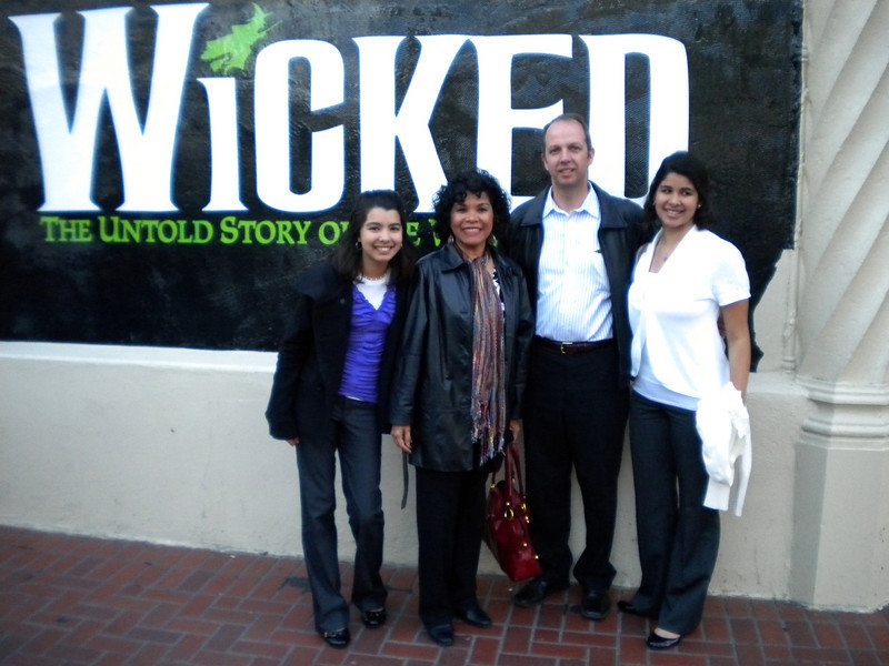 Just before going into the theater to see Wicked.