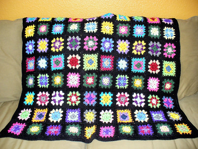 Baby afghan -- inspired by one in a New York City shop