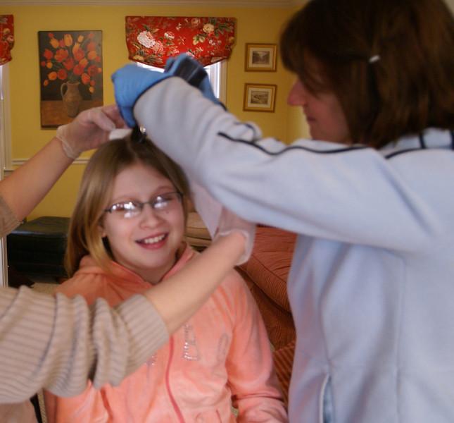 Jessica enjoys the treatment.