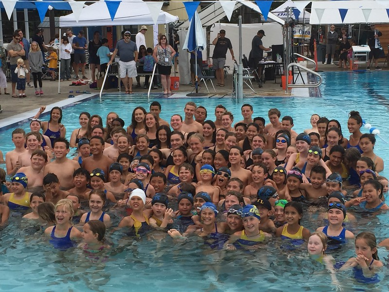 Orca swim team photo - Hailey is in there!
