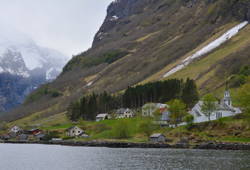 Church, Nyreofjord, Norway.