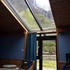Skylight in our motel room, Nyreofjord, Norway.