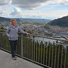 Karen on mountaintop, Bergen, Norway.