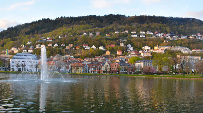Fountain, Bergen, Norway.