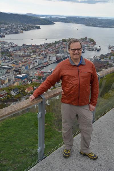 Vance on mountaintop, Bergen, Norway.