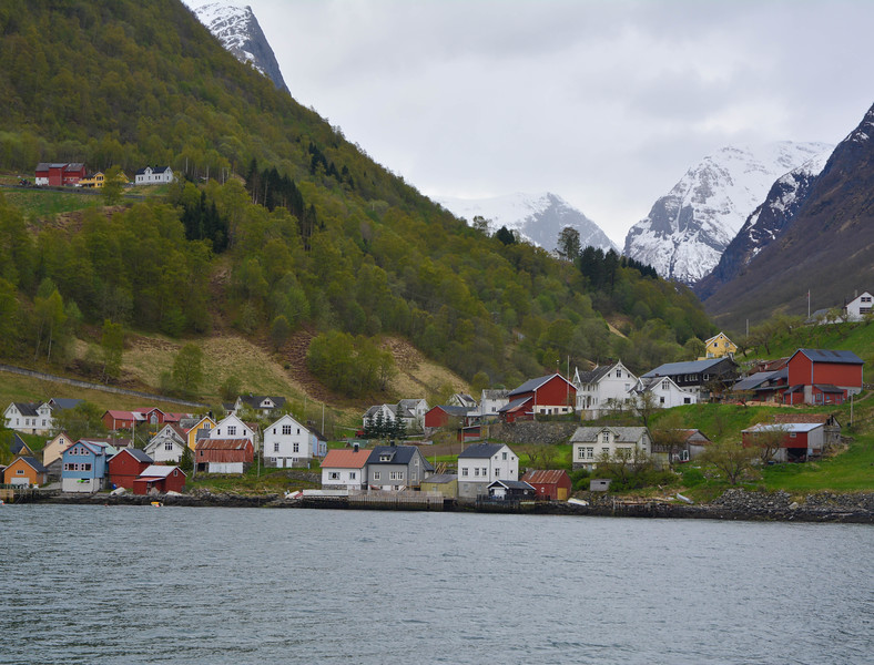 Fishing Village, Nyreofjord, Norway.