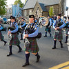 Bagpipe band, Portree, Isle of Skye, Scotland.