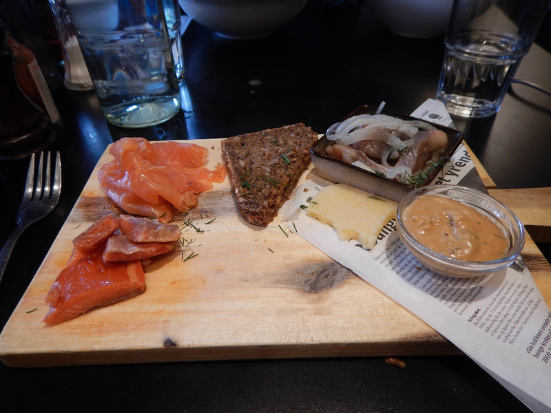 First Meal in Norway--Smoked Fish!!