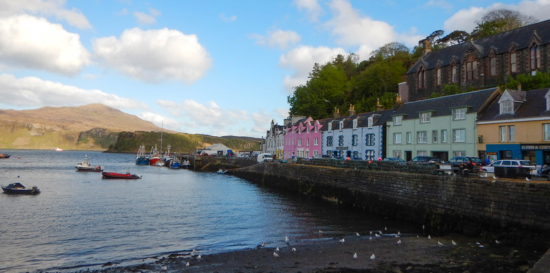 Portree Harbor, Isle of Skye, Scotland.