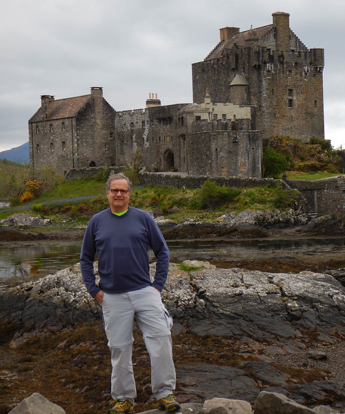 Vance at Castle Clachan, outside the Isle of Skye, Scotland.