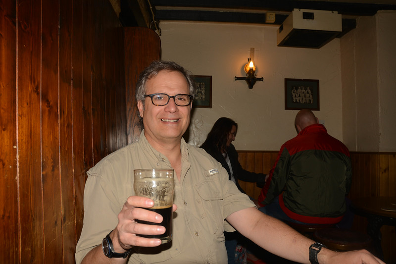 Vance toasting JRR Tolkein at The Lamb and Flag Pub, Oxford, which he frequented.