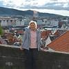 Karen on hillside, Bergen, Norway.