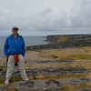 Vance at Dun Aonghasa fortress, Inis Mor, Galway, Ireland.