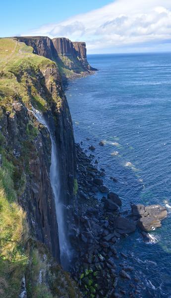 Coastal waterfall, Isle of Skye, Scotland.