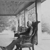 Walter Carrington Cabell 1940 - on back porch of brick house, Spring Valley Farm.