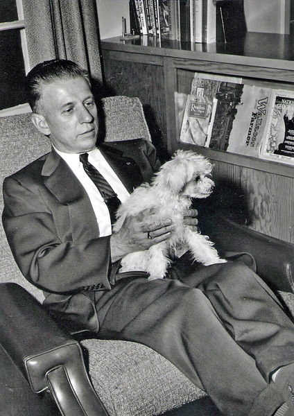 Forrest with dog