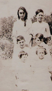 Carrie, Elmer, Lewis, Floyed, ida and Verna Mae Bennett