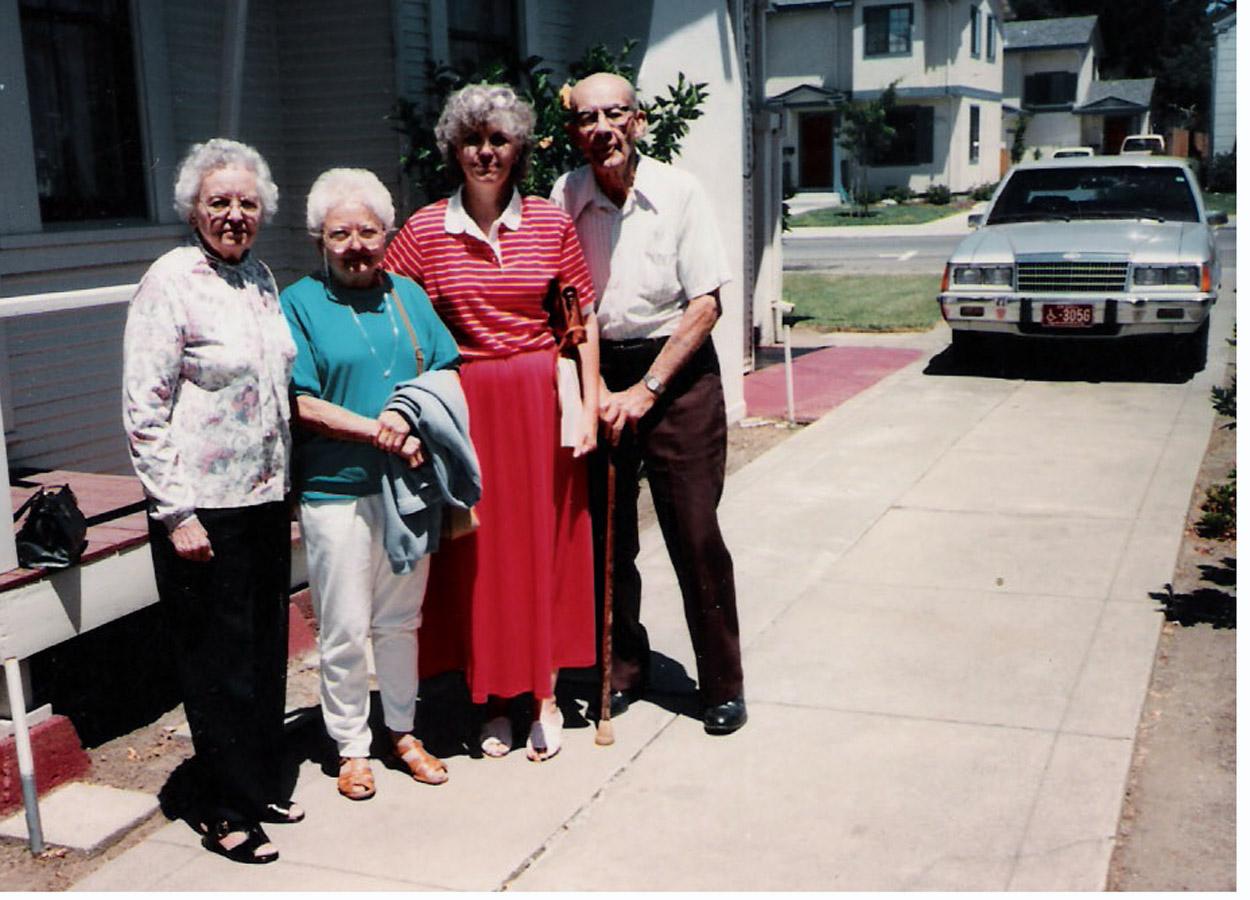 vm with Ida, Janene, and Harold in Hayward