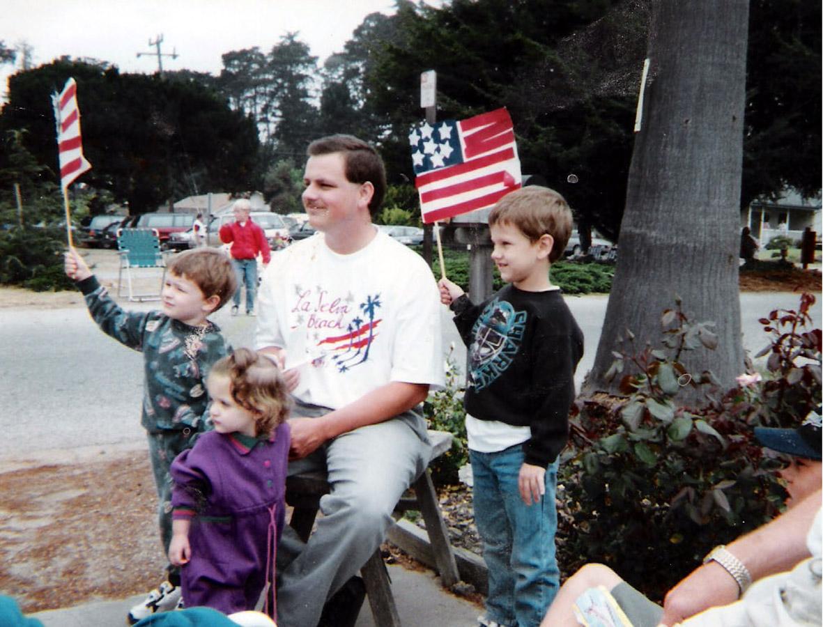 matt and family at parade