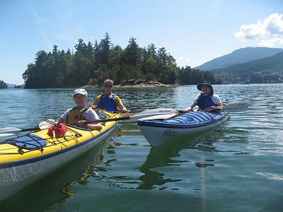 Kayaking near Ladysmith, BC.