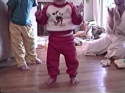 Caleb Learning to Walk-Nov 1993