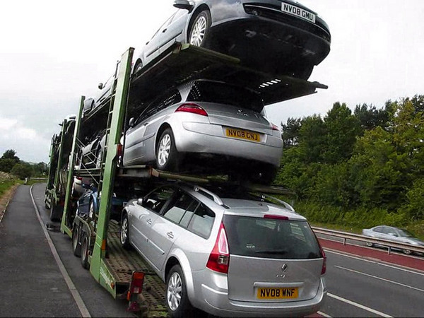This is my first video upload,it is of our truck in 2009 delivering 11 Renault cars from The Import centre at Teesport to Heysham docks Lancashire for onward shipping to N.Ireland UK