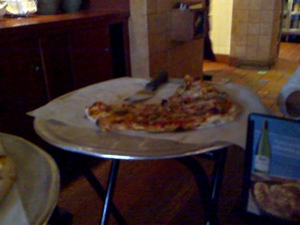 Grabbing some pizza at Bertucci