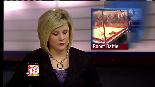 6pm News Report Robot Battle