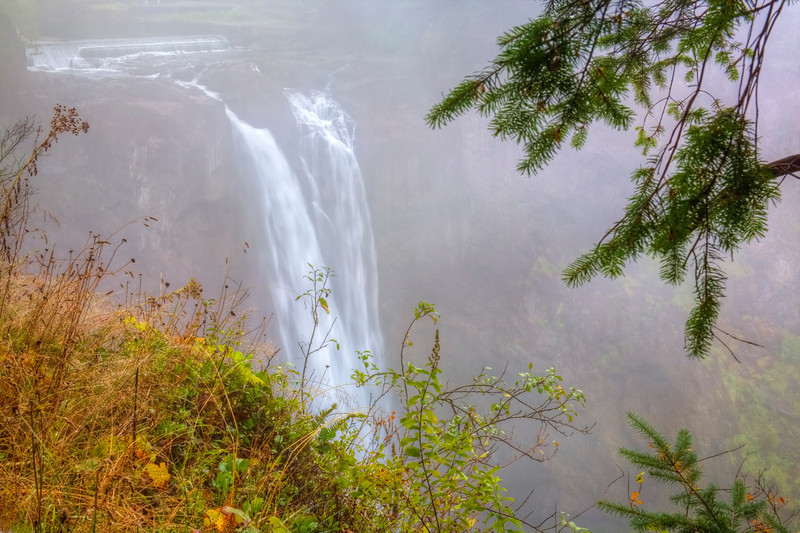Misty Fog of Snoqualmie Falls, Wa.