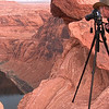 """Living on the Edge-Horseshoe Bend, Arizona<br /> It's quite exhilarating, standing on the vertical edge of this mammoth gorge along the Colorado River in Arizona. This spot is just a few miles from Glen Canyon Dam at Lake Powell. It sits high on the list for favorite stops for amateur and professional photographers alike. Every photographer that visits Arizona wants this shot in their portfolio. I showed up for sunset photos and early before sunrise shots, which is what you see here. Check out the Category, """"Arizona"""" for more shots of Horseshoe Bend."""