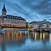 Old Town Zurich along River Limmat, Switzerland