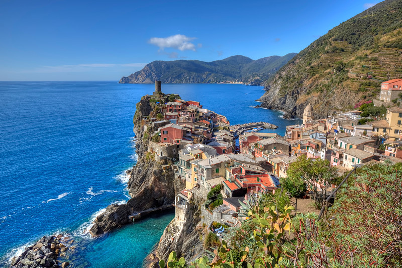 Vernazza Vista, Ligurian Sea, Italy