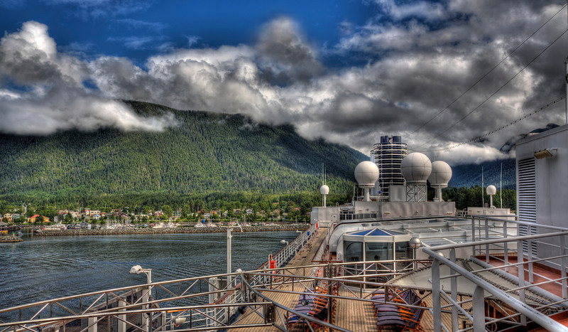 Cruise Ship Westerdam in Sitka Alaska-Love cruising! You unpack once and you're done for the week. Somebody else takes the wheel, and you do whatever it is you want to do. Recently we spent a week cruising out of Seattle to Glacier Bay and back. Imagine leaving 112 degrees in Phoenix to an area that is 40-50′s. We spent most of the time with jackets and gloves on and loved every minute of it. I think one of these months I'm going to do a whole month of cruising photos from the Caribbean, Alaska, Mexico and Europe. That will take some putting together, but I think I'm up to it. If you want to know about some of our favorite cruising spots let me know.