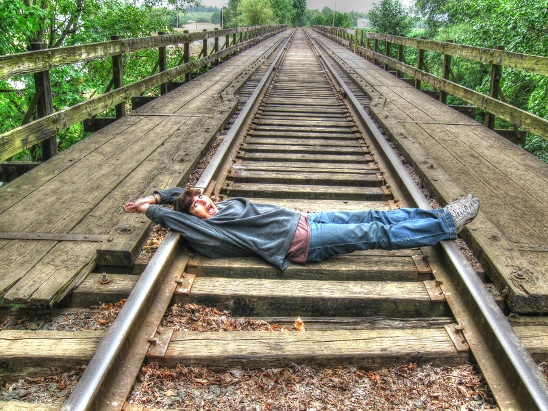 """""""Playing On The Tracks""""-rural, Oregon"""