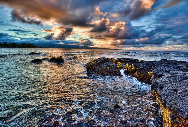 Sunset over Hilo, Hawaii