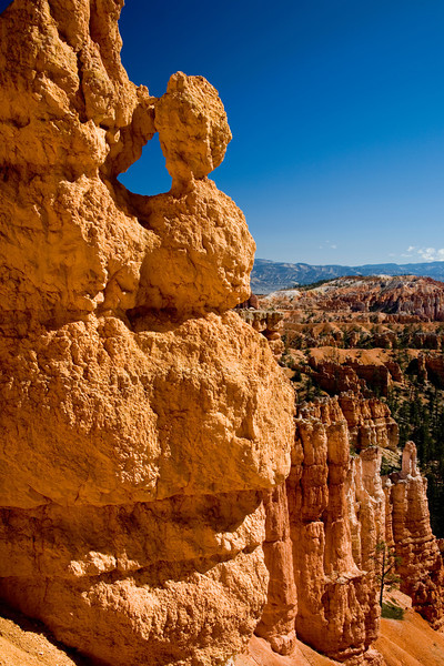 """The Majestic Bryce Canyon, Utah<br /> You're pretty much awe struck when you approach the edge of Bryce Canyon at various view points. There is really nothing quite like it. It's inspiring and definitely perspiring when you decide to go down into this huge hole. Problem is you have to eventually climb back out. And in the higher altitudes it's an undertaking. But you forget about that and concentrate on the more important task at hand.. """"footagraphy"""". That's my way of saying, you walk a few feet up hill, stop, check out the view,take a picture, walk up a few feet, stop,check out the view, take a picture, etc. That way nobody notices that your panting for air, about ready to faint from the strenuous uphill climb. Next time you're climbing a big hill, about to faint try, """"footagraphy""""!"""