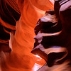 Antelope Slot Canyons, Arizona<br /> This is like entering another world. Slot canyons are on an indian reservation, so you must be escorted onto this private land by a guide who takes you through in groups. I signed up for a photography tour which for the extra money you got extra time and crowd control for the special shots. Well worth the greenbacks to have the space and time to plan your shots.<br /> <br /> If you ever go here, spend the extra money for a photography tour and bring a tripod. You'll be dissappointed if you don't. And a surgical mask to keep the dust out of your lungs. This shot was taken with 3 photographs at different exposures and then post-processed in Photomatix and Photoshop cs5.