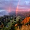 Rainbow over Columbia River Gorge, Oregon