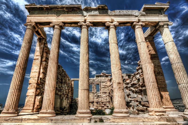 Acropolis-Pillar of Might, Greece