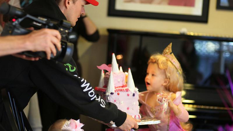 Leia's third birthday party: Princesses!