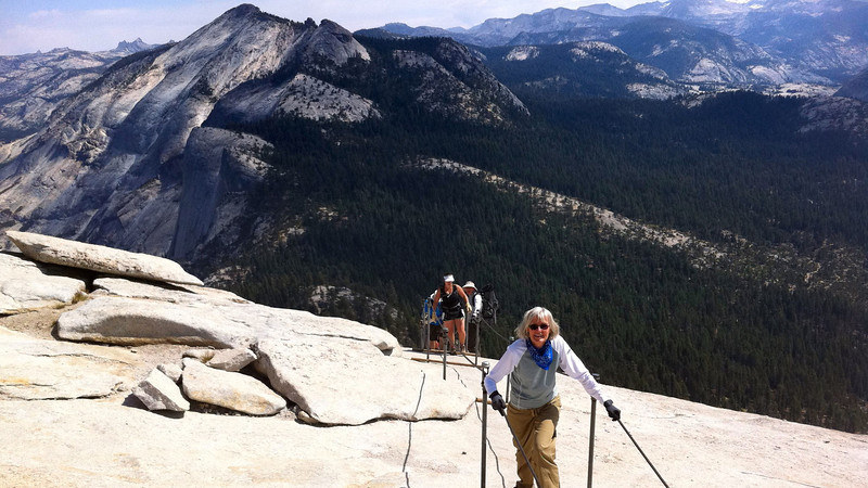 Toni's epic Half Dome conquest