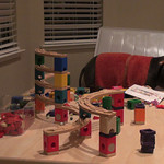 Logan's amazing marble tower.