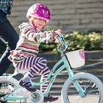 Evie learns to bike