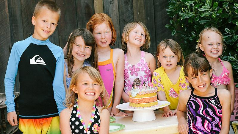 Evie's 5th (very bubbly) birthday