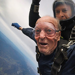 Foster skydives at 87