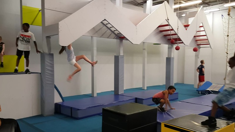 American Ninja Warrior training at Ninjas United for Mason's 7th birthday party.