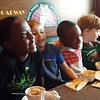 Mason's 7th birthday dinner after the end of the school year party.<br /> Amir, Henry, Damare and Mason.<br /> Jada and Lila.