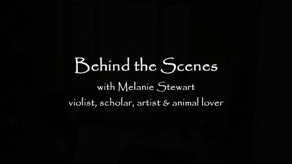 Behind the scenes; Melanie practicing