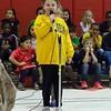 Lila sings a solo at school, age 7.5, grade 2.